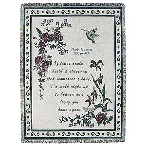 Personalized Memorial Afghan Blanket - Stairway of Tears - 3805D