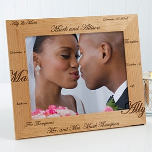 Personalized Wedding Photo Frames - Mr and Mrs - 3817