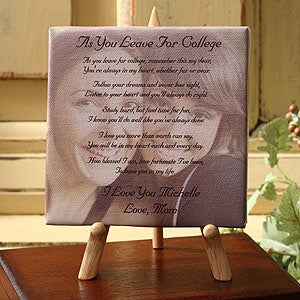 Custom Photo with Poem Canvas - Graduation Poem - 3844