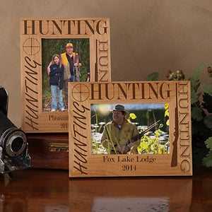 Personalized Hunting Wood Picture Frames - 3874
