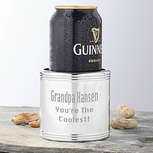 Engraved Silver Beverage Cooler - You're The Coolest - 3880