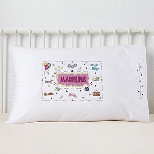 Personalized Signature Slumber Party Pillowcase - 3932