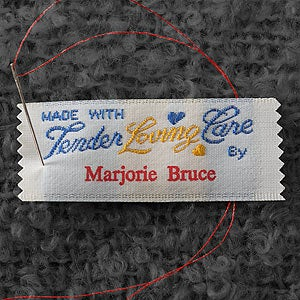3945D 11839 Knitting Labels Personalized