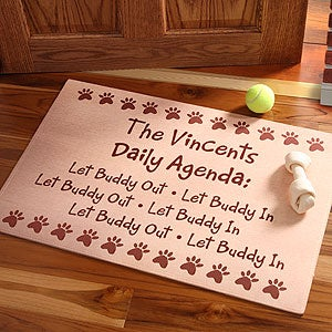 Personalized Daily Agenda Pet Door Mat - 3988