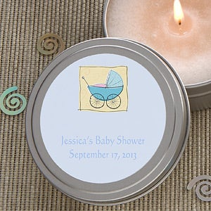 Personalized Baby Shower Candle Tin Favors - 4010