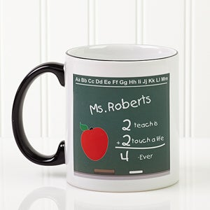 Personalized Teacher Chalkboard Ceramic Coffee Mug - 4040