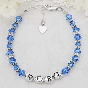 Personalized Girls Birthstone Bracelets - 4050D