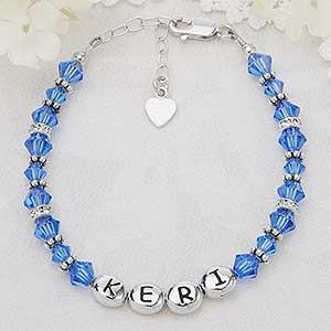 Personalized Girls Birthstone Bracelets - 4050D