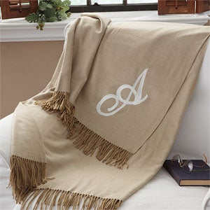 Personalization Mall Mother's Day Gifts -  Personalized Single Initial Embroidered Afghan Blanket at Sears.com