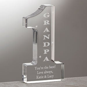 Number One Grandpa Engraved Sculpture  - 4107