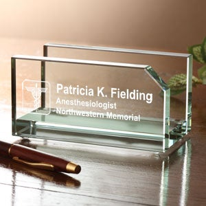 Personalized Business Card Holder - Medical Design - 4114