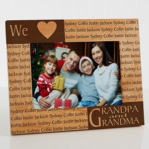 our loving hearts holiday personalized frame 5 x 7 on sale today