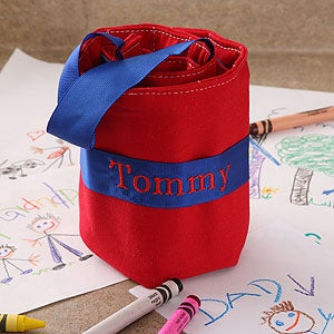 Embroidered Kids Crayon Tote - 4137