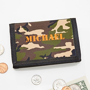 Kids Camouflage Tri Fold Wallet For Boys