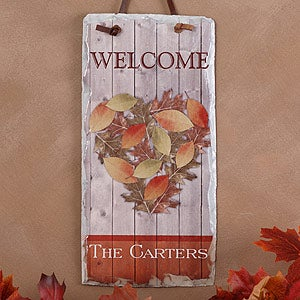 Personalization Mall Personalized Autumn Heart Slate Wall Plaque at Sears.com