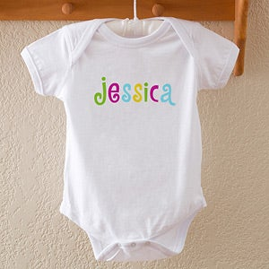 Personalized Kids and Baby Clothes - Hot Pastel Design - 4165