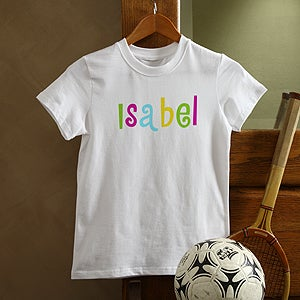 Personalization Mall Personalized Kids T Shirt - Hot Pastel Design at Sears.com