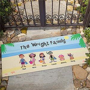 Personalized Beach Vacation Family Doormat - 4186