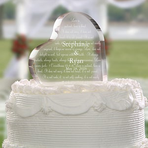 Personalized Wedding Cake Topper - Love Is Patient - 4194