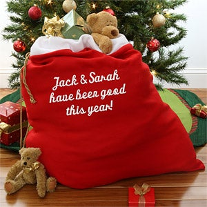 Personalized Santa Claus Red Toy Sack - 4200