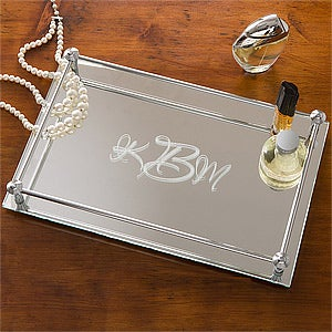 Personalization Mall Mother's Day Gifts -  Monogram Mirrored Vanity Tray - Single Initial Design at Sears.com