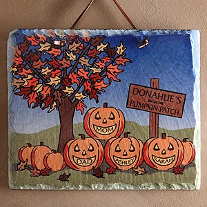 Personalization Mall Personalized Halloween Decor - Pumpkin Patch Slate Plaque at Sears.com