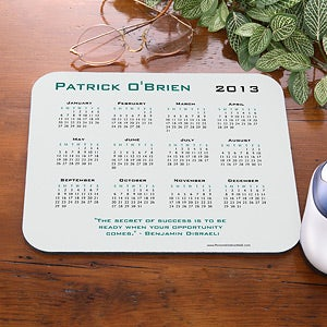 Personalized Calendar Mouse Pad with Custom Quote - 4232