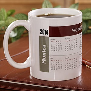Personalized Calendar Coffee Mugs - Initial Impressions - 4245
