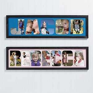 personalized photo name collage frame 4250