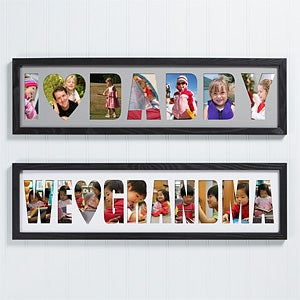 personalized name photo collage frame loving them 4251 - Name Frame