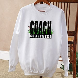 Personalization Mall Personalized Baseball Coach Sweatshirt at Sears.com