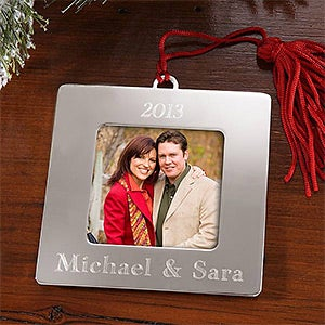 Personalization Mall Square Picture Frame Personalized Christmas Ornaments at Sears.com