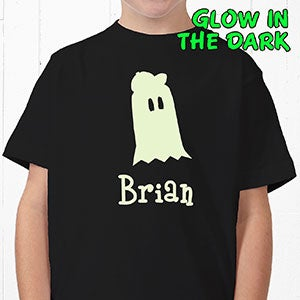 Personalized Glow In The Dark Halloween Shirts - Ghost - 4284