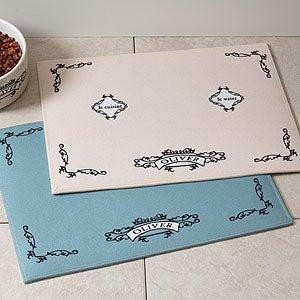 Personalized Pet Food Place Mat - Le Cuisine - 4293