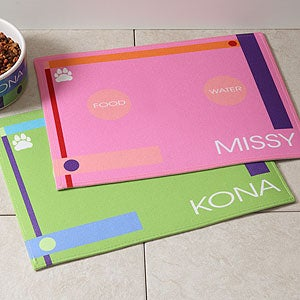 Personalized Pet Food Place Mat - Designer Dining - 4294