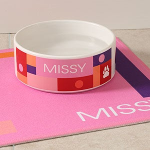 Personalized Designer Pet Bowls - 4295