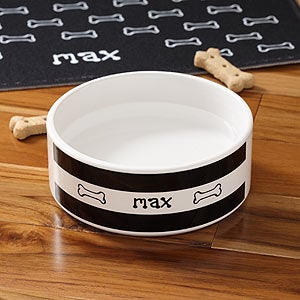 Personalized Ceramic Pet Bowls - Doggie Diner - 4296