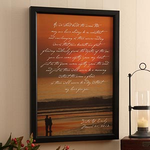 Personalization Mall Personalized Sunset Canvas Art - What Is Love Design - Medium at Sears.com