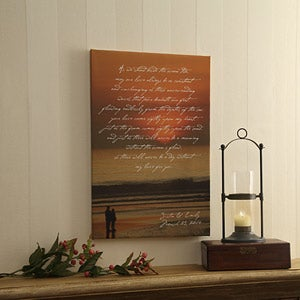 Personalized Sunset Canvas Art - What Is Love Design - 4303