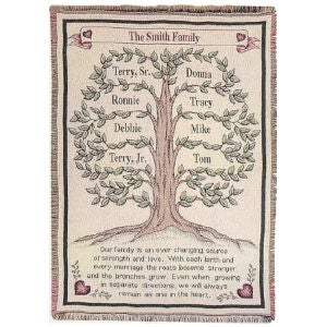 Personalized Family Tree Tapestry Blanket - 4308D