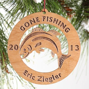 Personalization Mall Gone Fishing Personalized Christmas Ornaments at Sears.com