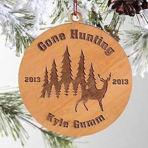 Gone Hunting Personalized Christmas Ornaments - 4357