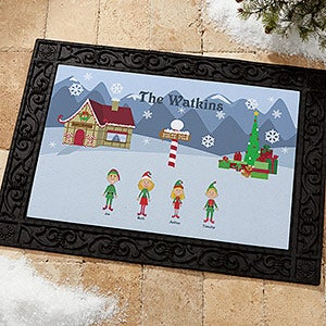 Personalized Christmas Character Welcome Door Mat - 4418