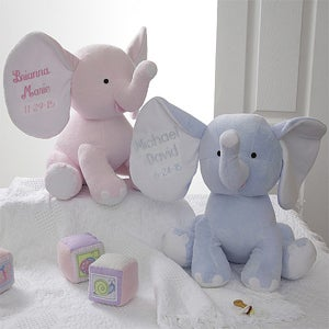 Personalized Plush Elephant Stuffed Animal - 4428