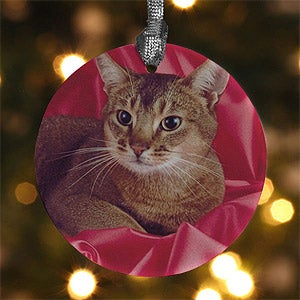 Personalized Pet Photo Memories Porcelain Christmas Ornaments - 4432