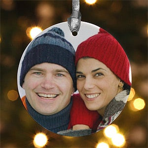 Personalized Porcelain Photo Memories Christmas Ornaments - 4480