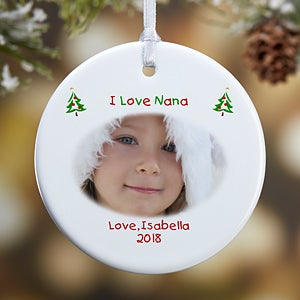 Personalized Photo Christmas Ornaments - With Love Design - 4481