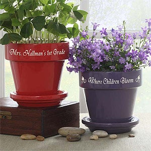Personalized Teacher's Flower Pots