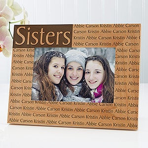personalized 4x6 picture frame with custom title names for her