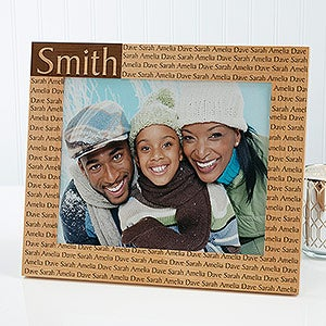 Personalized Family Name Wood Picture Frames - Engraved Free - 4523